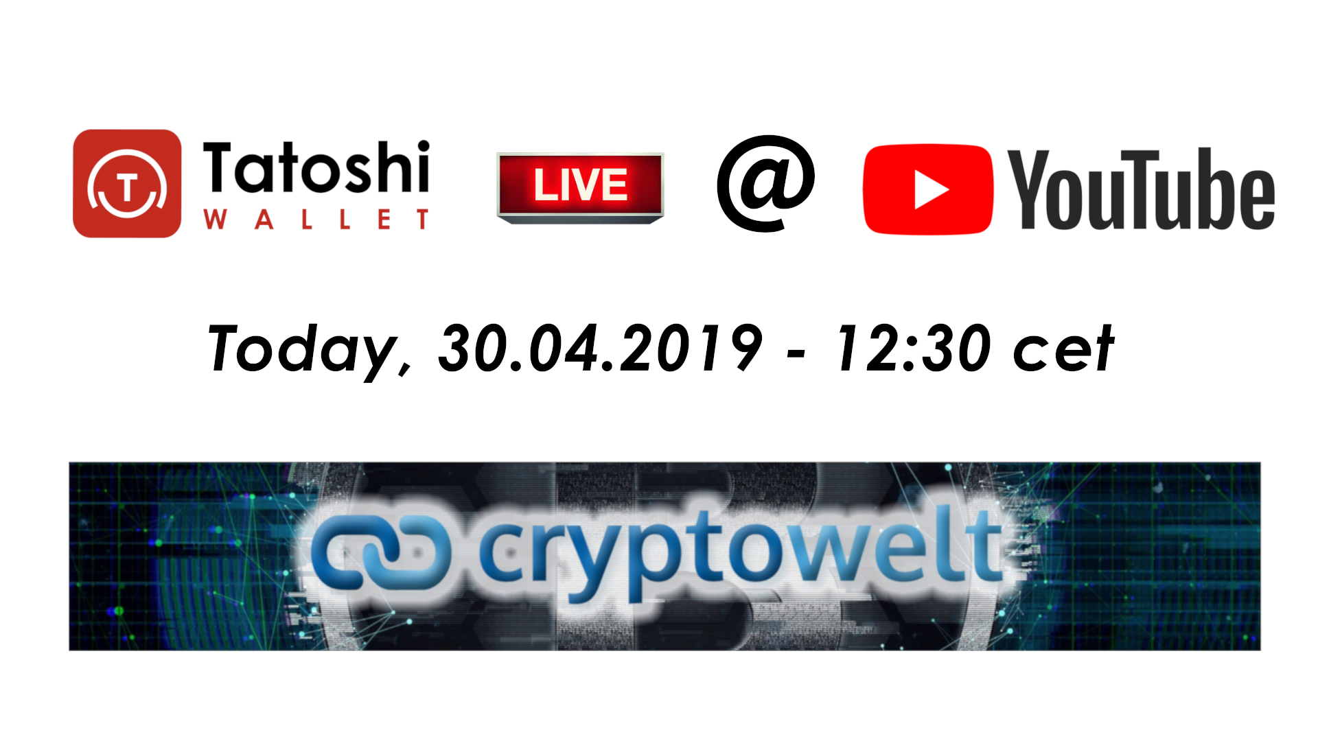 Tatoshi wallet live at cryptowelt youtube channel